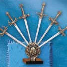 6-Piece Meta Assorted Sword On Display Stand