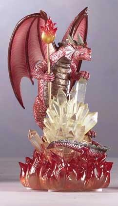 Dragon With Crystalline Base