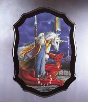 Wizard, Dragon, Unicorn Clock