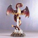 Red Dragon On Sword