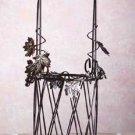 Metal-Rattan Wine Bottle Basket