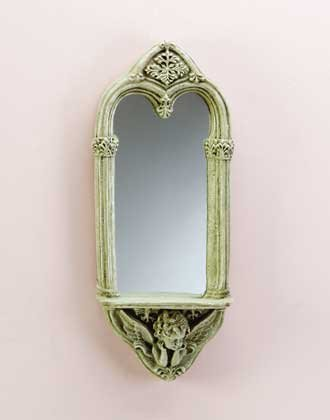 Cherub Wall Shelf With Mirror