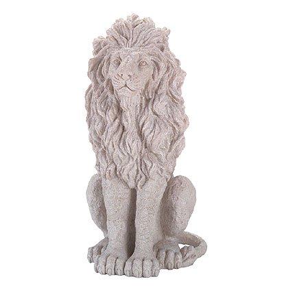 Stone-Finished Sitting Lion