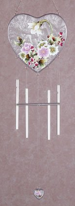 Victorian Flowers Heart-Shaped Wind Chime