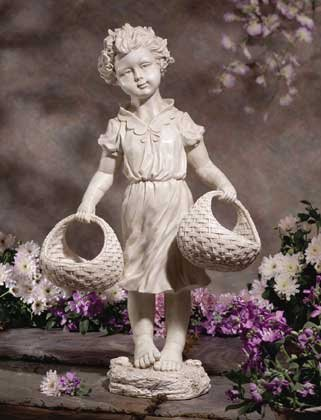 Country Girl Statue Birdfeeder