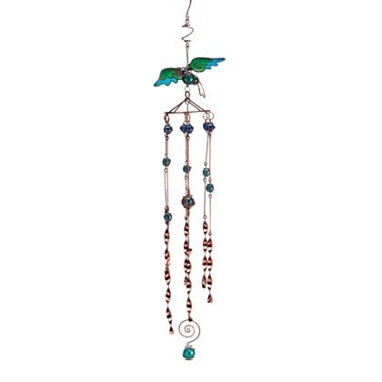 Copper Plated Hummingbird Chimes