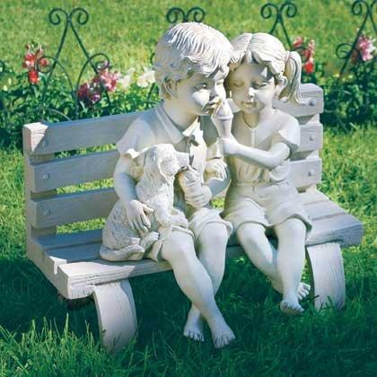 Garden Statue Bench
