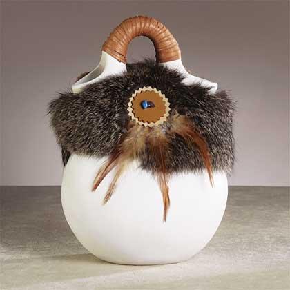 Rabbit Fur Vase