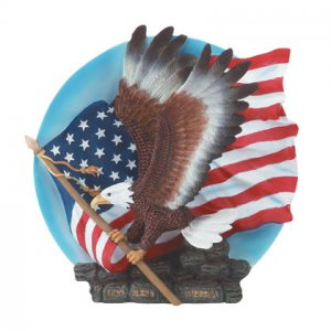 Eagle with Flag Plate