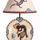 Kokopelli Plate-Lamp Set