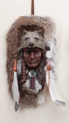 Wolf Headdress Plaque