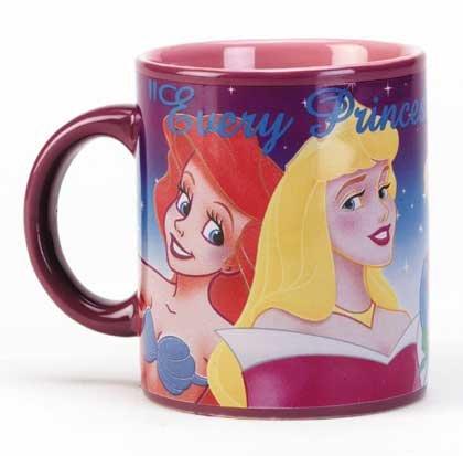 Disney Princess Ceramic Decal Mug
