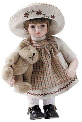 """11"""" Porcelain Girl Doll - Hannah"""