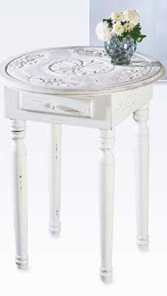 White Wood Side Table