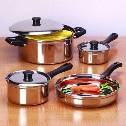 7-Piece Stainless Steel Pot Set