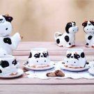 13 Piece Cow Tabletop Set