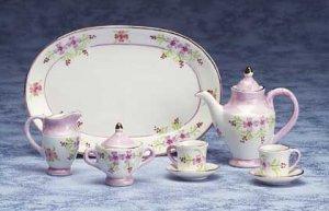 Lavender Floral Mini Tea Set