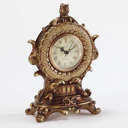 Wicker Pattern Antique-Look Clock