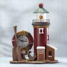 Wood Lighthouse Light-Clock