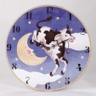Wood Cow Jumping Over the Moon Clock