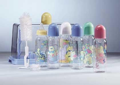 Blue Baby Bottle Gift Set