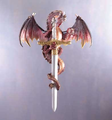 Dragon with Sword Wall Plaque