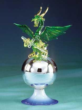 Green Glass Dragon on Ball