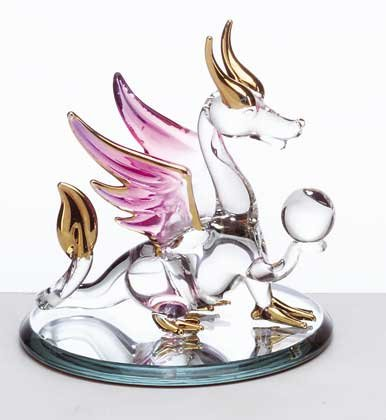 Glass Dragon with Purple Wings