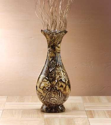 Safari Patchwork Vase