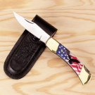American Flag & Eagle Stainless Knife