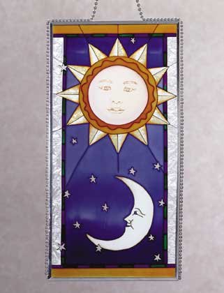 Art Glass Celestial Suncatcher