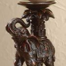 Elephant and Palm Tree Candle Holder