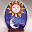 Glass Celestial Plaque Candle Holder