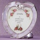 "Heart-Shaped ""Grandma"" Plaque and Candle Holder"