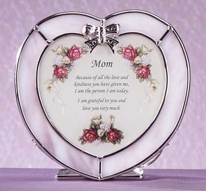 "Heart-Shaped ""Mother"" Plaque and Candle Holder"