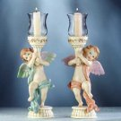 Cherub Votive Holders Pair