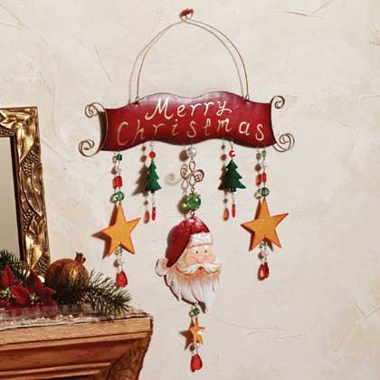 Metal Christmas Wall Plaque