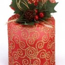 Red Christmas Candle in Pouch