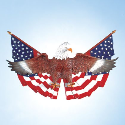 Eagle On Flag Wall Plaque