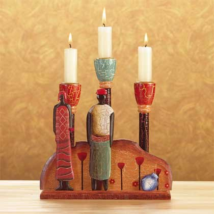African Candle Holder