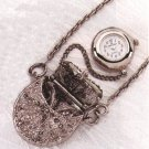Antique Silver-Plated Purse Watch