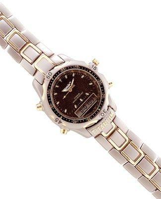 Man's Digital And Analog Titanium Watch