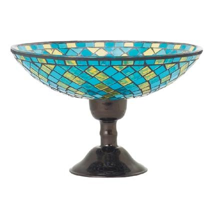 Mosaic Glass Compote Dish