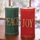 Festive Pillar Candle Set