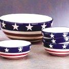 American Flag Salad Bowl Set