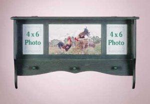 Wood Rooster Shelf-Frame