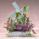 Wood Windmill Floral Arrangement