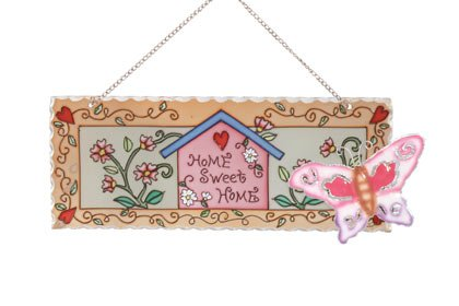Glass Home-Sweet-Home Plaque