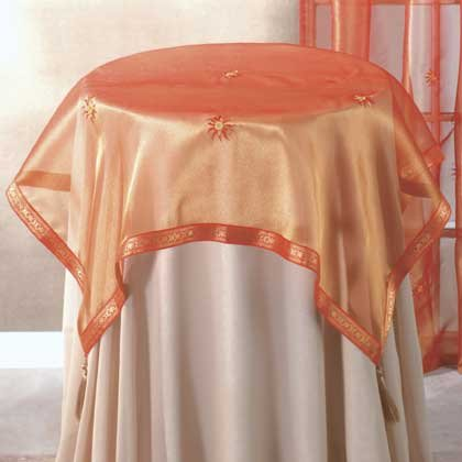 Orange Sun Tablecloth