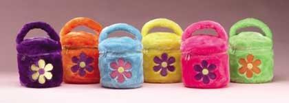 Plush Flower Hand Bag 6ct